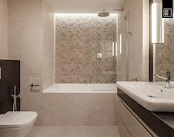 OVO Wrocław_02 - Mała średnia łazienka w bloku w domu jednorodzinnym bez okna, styl nowoczesny - zdjęcie od KODO projekty i realizacje wnętrz