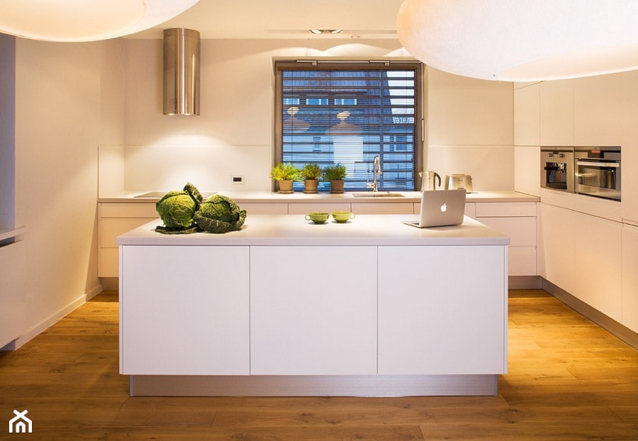 Wnętrze Domu Z Lat 20 średnia Biała Kuchnia W Kształcie