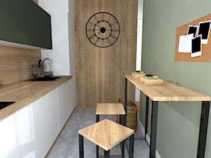 Z jak Zieleń - Mała zamknięta wąska biała zielona kuchnia jednorzędowa, styl nowoczesny - zdjęcie od Patrycja Grych