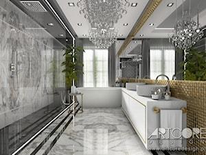 THE HIDDEN SUN - projekt łazienki glamour. - zdjęcie od ArtCore Design