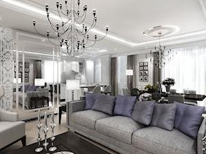 FIVE O'CLOCK - projekt wnętrza apartamentu w Warszawie