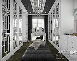 Projekt wnętrza garderoby glamour. - zdjęcie od ArtCore Design
