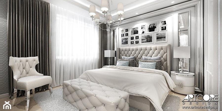 Projekt Wnętrza Jasnej Sypialni W Stylu Glamour Zdjęcie Od