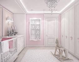 Różowy pokój niemowlęcy. - zdjęcie od ArtCore Design