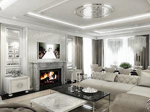 Elegancki salon w stylu glamour. - zdjęcie od ArtCore Design