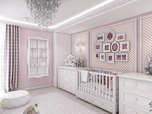 Pokój niemowlęcy dla dziewczynki. - zdjęcie od ArtCore Design