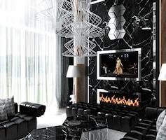 Luksusowy salon - zdjęcie od ArtCore Design