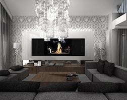 projekt wnętrza nowoczesnego salonu - zdjęcie od ArtCore Design