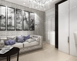 Projektowanie wnętrz gabinetu w stylu glamour. - zdjęcie od ArtCore Design