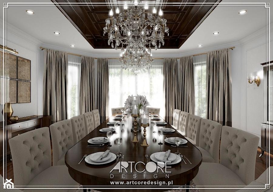 Klasyczne wnętrza domu - projekt - zdjęcie od ArtCore Design