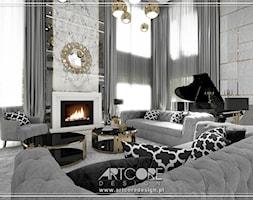 Luksusowe wnętrza salonu - zdjęcie od ArtCore Design