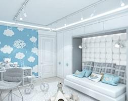Fototapeta+z+chmurkami+w+pokoju+ch%C5%82opca.+-+zdj%C4%99cie+od+ArtCore+Design
