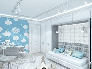 Fototapeta z chmurkami w pokoju chłopca. - zdjęcie od ArtCore Design