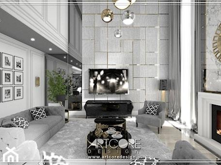 Aranżacje wnętrz - Salon: luksusowe wnętrza rezydencji projekt - ArtCore Design. Przeglądaj, dodawaj i zapisuj najlepsze zdjęcia, pomysły i inspiracje designerskie. W bazie mamy już prawie milion fotografii!