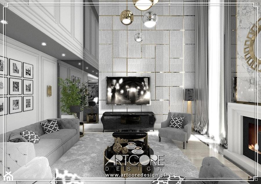 luksusowe wnętrza rezydencji projekt - zdjęcie od ArtCore Design