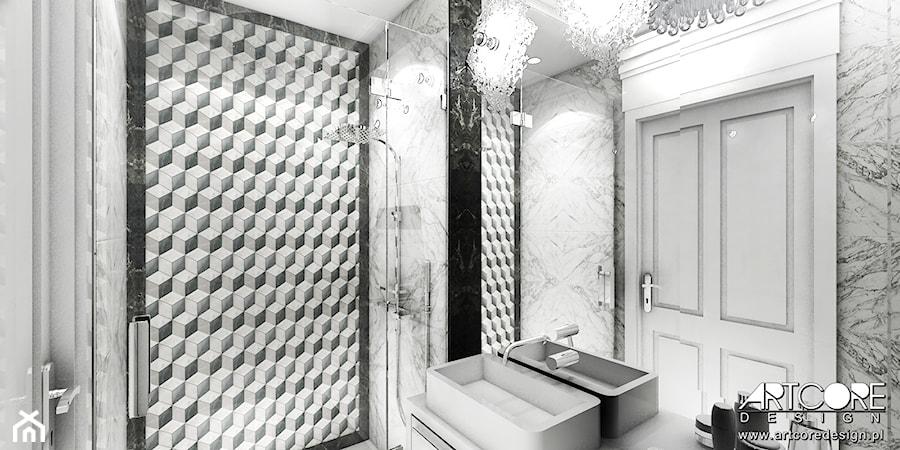 Biała łazienka Z Mozaiką Zdjęcie Od Artcore Design Homebook