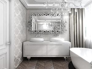 Luksusowa łazienka w stylu glamour. - zdjęcie od ArtCore Design