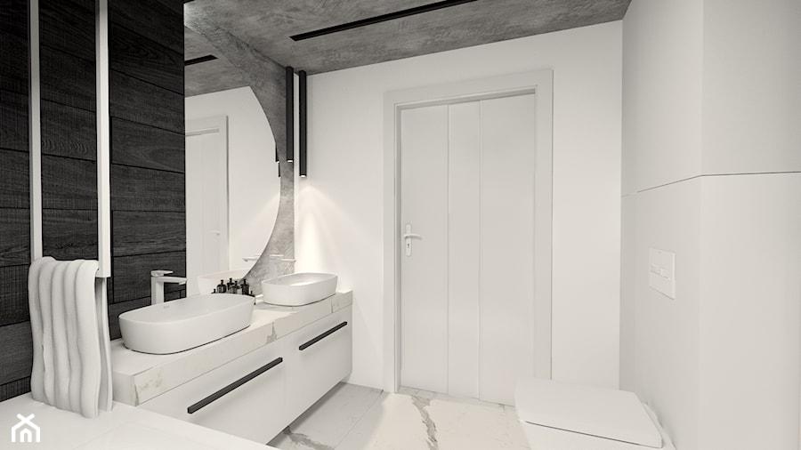 Czarno - biała łazienka - zdjęcie od Bubbles Studio