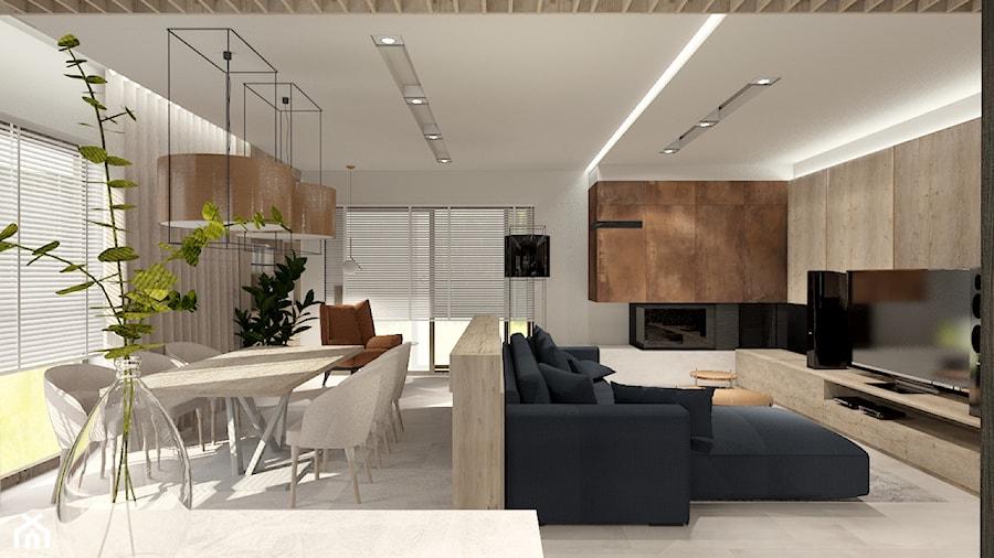 Salon z miedzią w tle - zdjęcie od Bubbles Studio