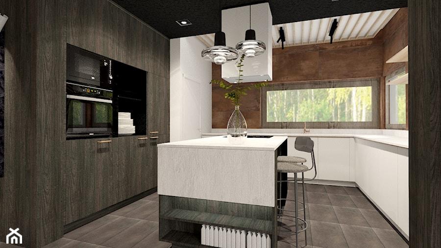 Kuchnia w czerni i miedzi - zdjęcie od Bubbles Studio