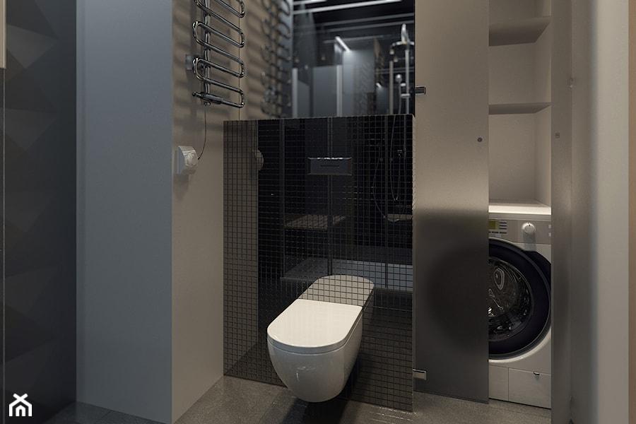 Apartamenty prz Krasińskiego - Średnia biała łazienka w bloku bez okna, styl industrialny - zdjęcie od 13 pracownia