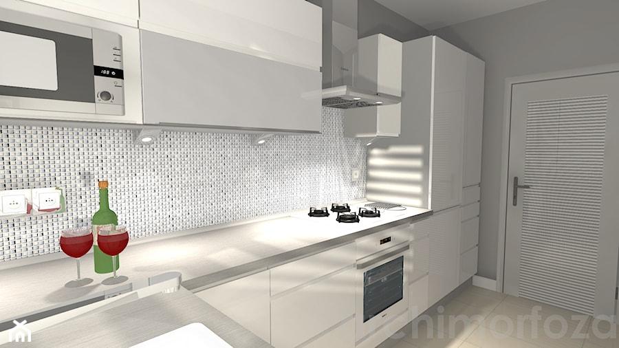 Biała kuchnia w bloku  zdjęcie od ARCHIMORFOZA IDS -> Kuchnia Biala Inspiracje