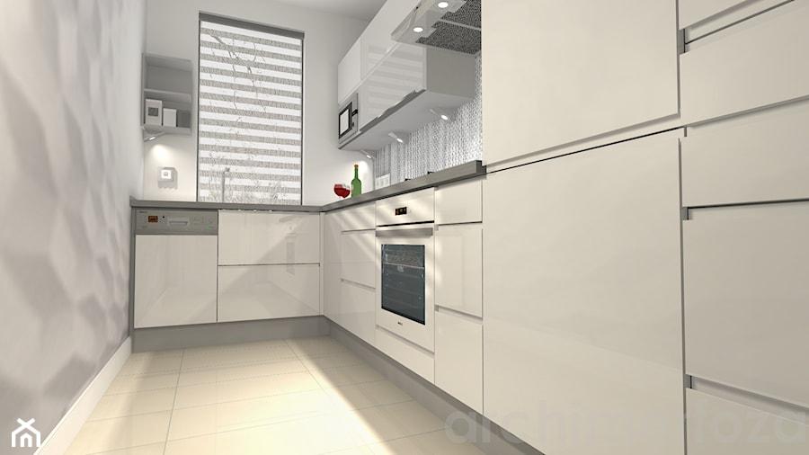 Biała kuchnia w bloku  zdjęcie od ARCHIMORFOZA IDS -> Biala Kuchnia Utrzymanie Czystości