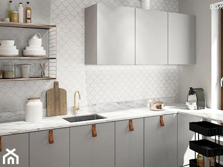 Aranżacje wnętrz - Kuchnia: Zielono mi - Średnia otwarta kuchnia w kształcie litery l, styl eklektyczny - DOMagała Design. Przeglądaj, dodawaj i zapisuj najlepsze zdjęcia, pomysły i inspiracje designerskie. W bazie mamy już prawie milion fotografii!