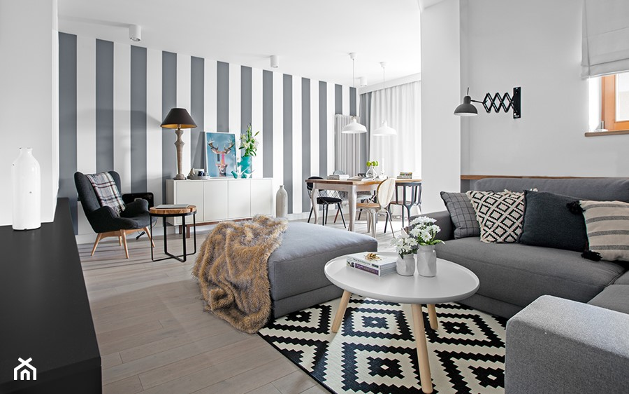 bia y szary czarny zdj cie od domaga a design homebook. Black Bedroom Furniture Sets. Home Design Ideas