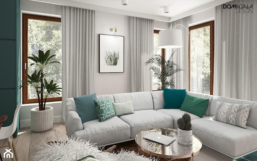 Zielono mi - Średni salon, styl vintage - zdjęcie od DOMagała Design