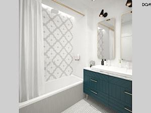 Zielono mi - Biała szara łazienka, styl vintage - zdjęcie od DOMagała Design