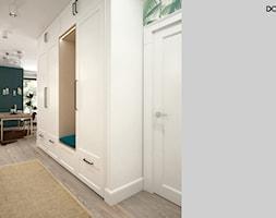 Zielono mi - Średni biały hol / przedpokój, styl skandynawski - zdjęcie od DOMagała Design