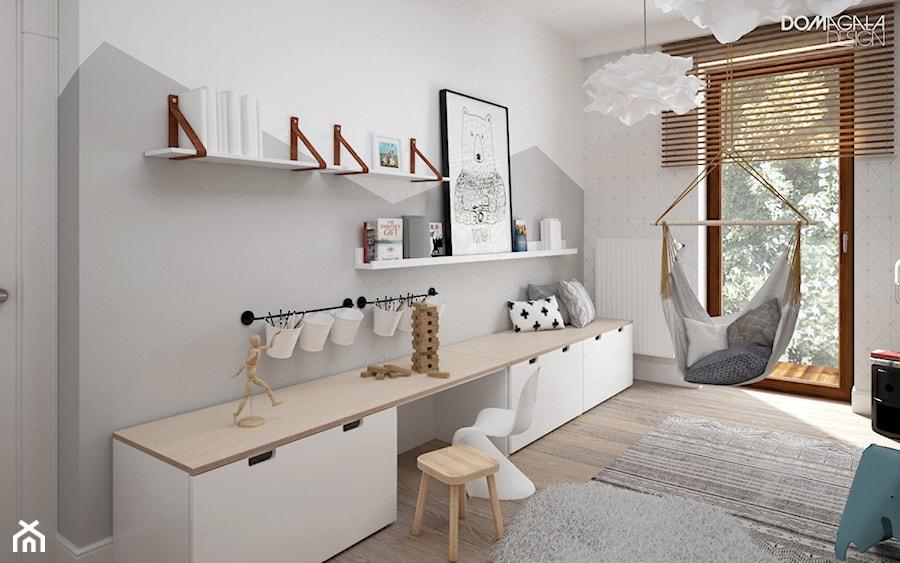 zielono mi redni bia y szary pok j dziecka dla dziewczynki dla nastolatka styl skandynawski. Black Bedroom Furniture Sets. Home Design Ideas