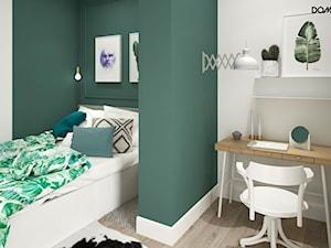 Zielono mi - Mała biała zielona sypialnia, styl eklektyczny - zdjęcie od DOMagała Design