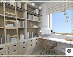 Domowe biuro z naturalnym światłem - zdjęcie od DoMilimetra - Homebook