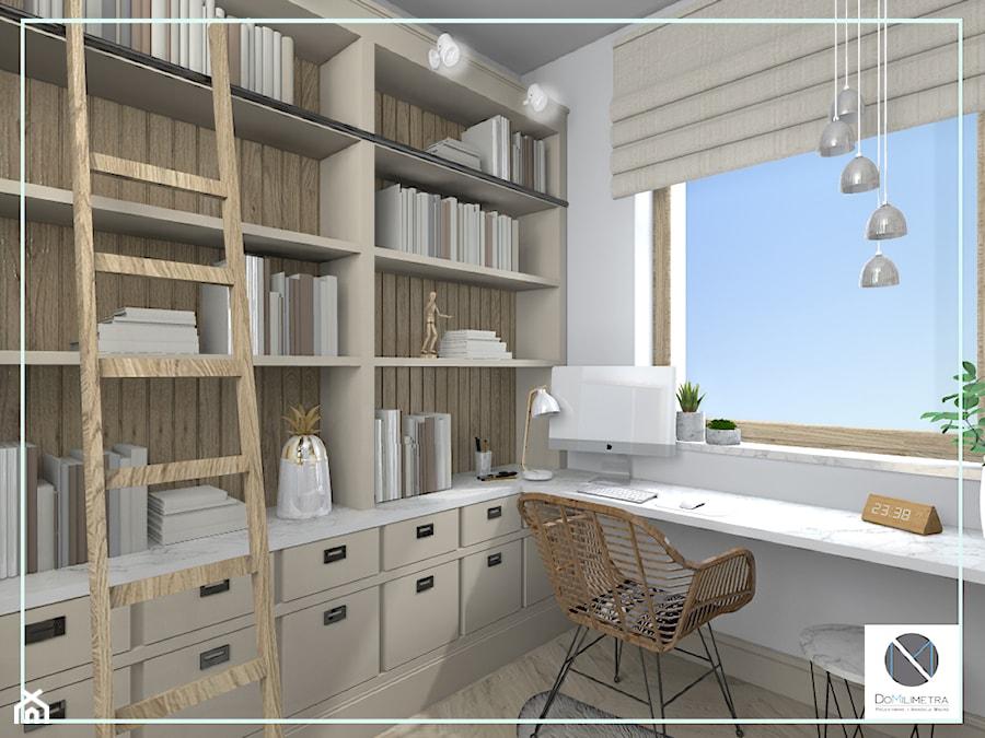 Domowe biuro z naturalnym światłem - zdjęcie od DoMilimetra