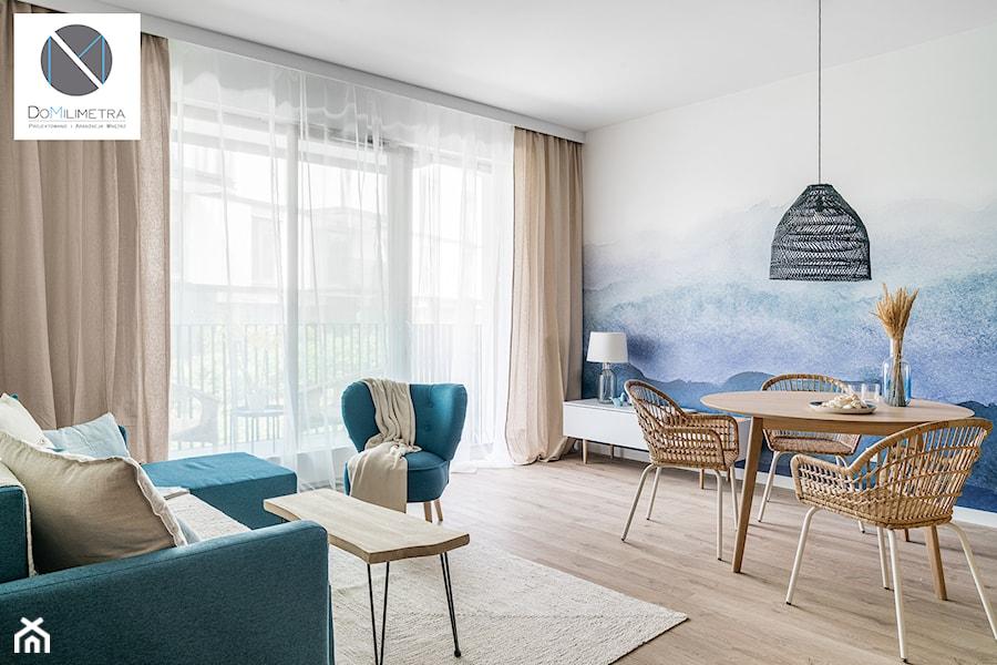 Living Coral - Salon, styl skandynawski - zdjęcie od DoMilimetra