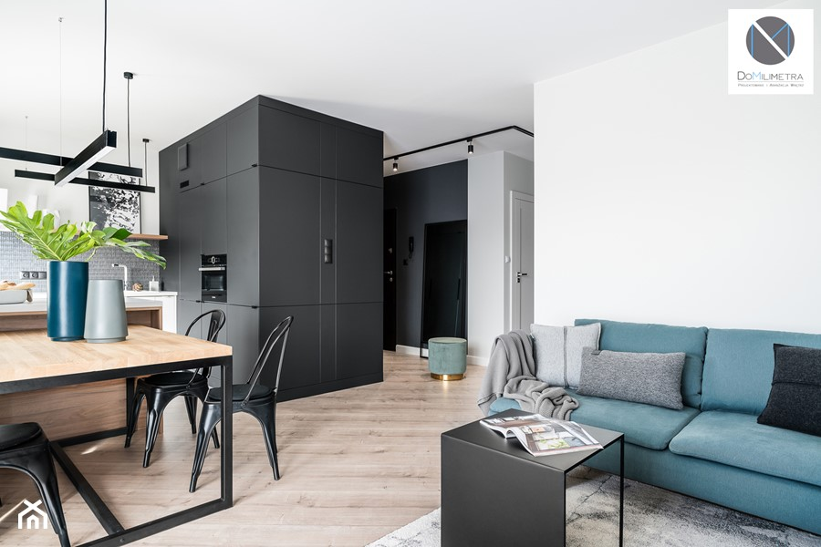 Black Cube - Salon, styl minimalistyczny - zdjęcie od DoMilimetra