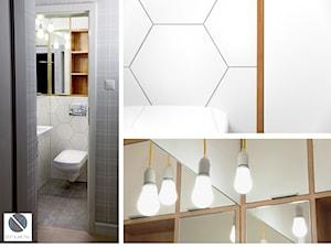 Heksagonalne układanki - łazienka z wc