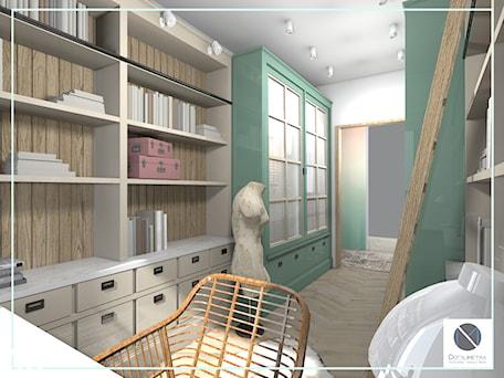 Aranżacje wnętrz - Biuro: Domowe biuro - DoMilimetra. Przeglądaj, dodawaj i zapisuj najlepsze zdjęcia, pomysły i inspiracje designerskie. W bazie mamy już prawie milion fotografii!