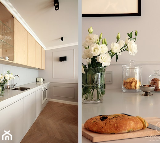 NAVY  Mała kuchnia jednorzędowa w aneksie, styl eklektyczny  zdjęcie od Koł