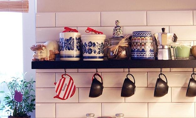 jak ozdobić pustą ścianę w kuchni