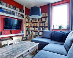 Apartament w Będzinie - Mały czerwony salon - zdjęcie od Beata Fajkus Fotografia Nieruchomości