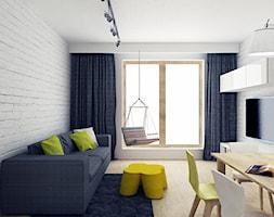 Mieszkanie we Wrocławiu/Flat in Wrocław - Mały biały salon z jadalnią - zdjęcie od Marta Kulczycka Cooldesign Biuro Projektowe