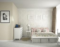 Mieszkanie na ul. Jedności Narodowej - Średnia sypialnia małżeńska, styl prowansalski - zdjęcie od ESSA Architektura