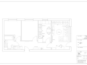 Mieszkanie w stylu surowym skandynawskim - Moderno
