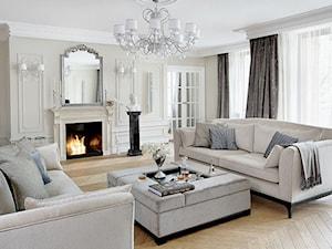 Apartament - Mokotów - Duży biały salon, styl klasyczny - zdjęcie od Casamila Architekci s.c.