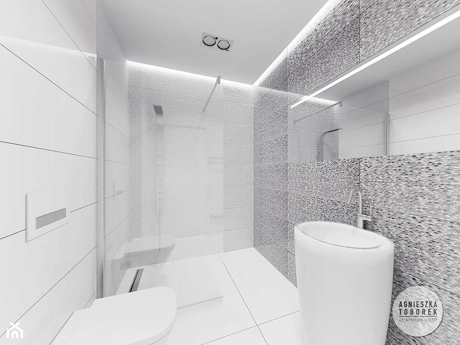 Bardzo mała łazienka - Łazienka, styl nowoczesny - zdjęcie od Agnieszka Toborek Architektura Wnętrz