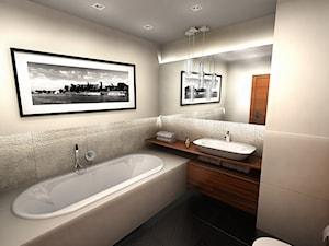 Kraków Dąbie - Średnia beżowa łazienka, styl nowoczesny - zdjęcie od Coco design studio