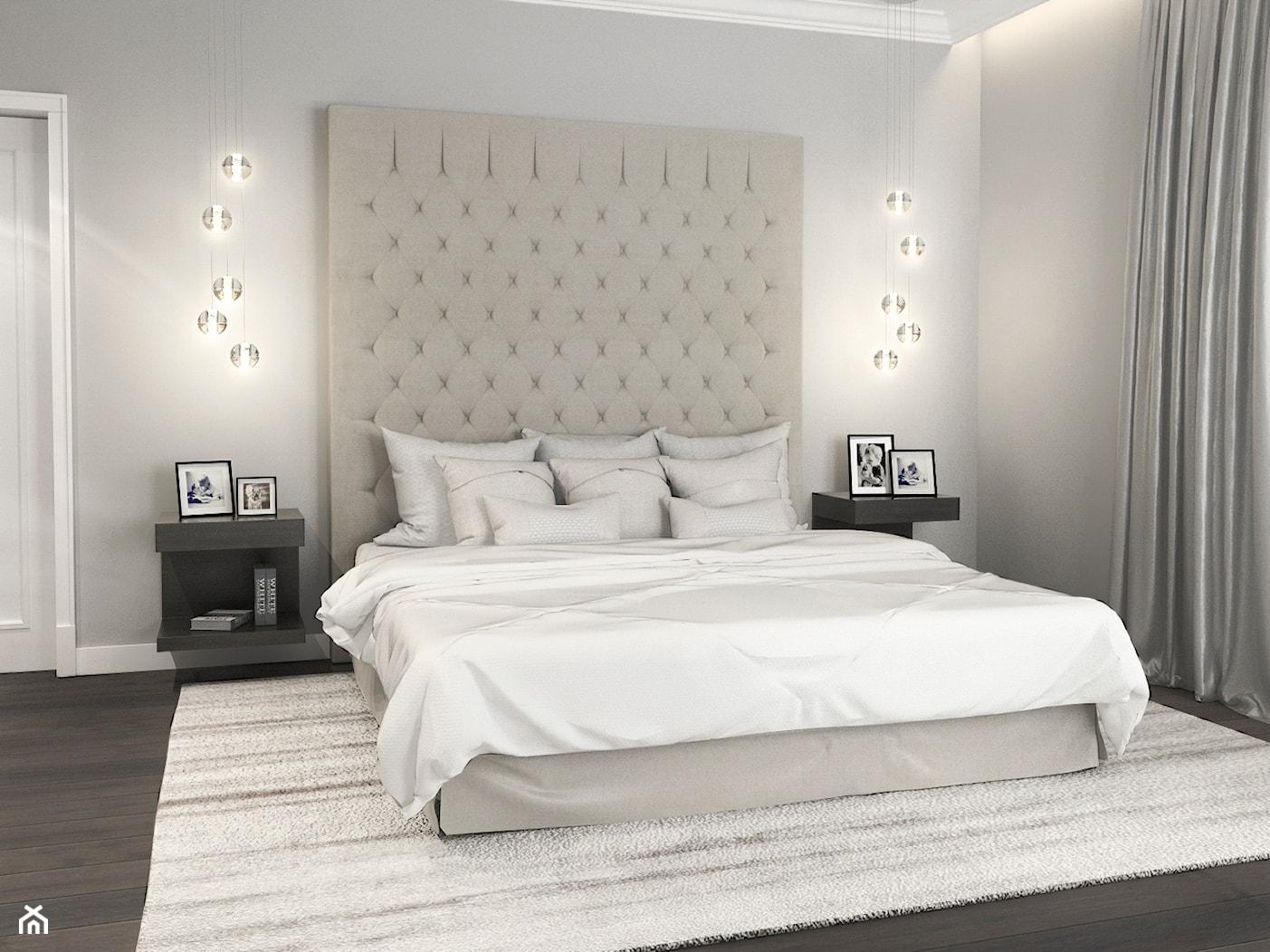Projekt wnętrz domu - Średnia biała sypialnia małżeńska, styl klasyczny - zdjęcie od ARCHISSIMA - Homebook
